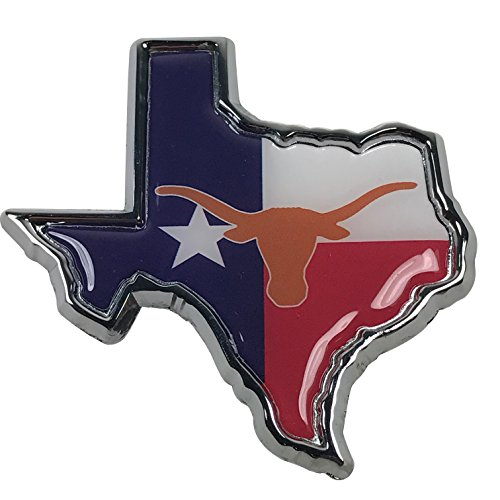 University of Texas Longhorns METAL Auto Emblem (Texas flag logo)