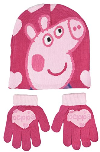 [Various Girls Character Stretch Hat And Gloves 2 Piece Set Kids Warm Winter Gift Size UK 3-8 Years] (Child's Unicorn Costume Uk)