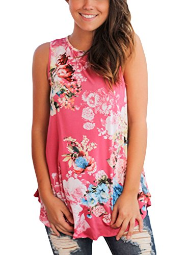 Dokotoo Womens Ladies Summer Sexy Party Floral Print Loose