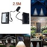EnjoCho Solar Powered Light, Separable 28 LED Solar Powered Light Motion Sensor Outdoor Garden Security Lamp Waterproof (Black)