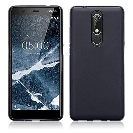 buy online a0c86 03b53 SmartLike Matt Candy Back Cover for Nokia 5.1 (Nokia 5 2018) - Black