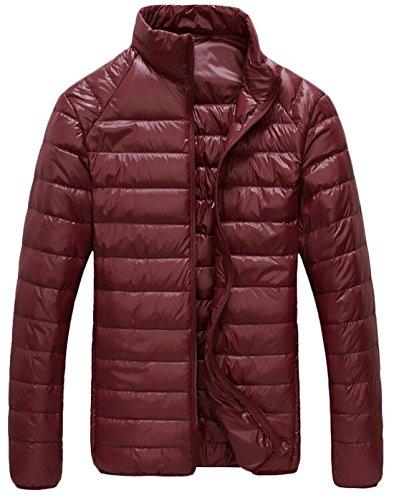 EKU Wine Jacket Coat Men's US Puffer Light Packable Red Outwear XXL Down FFwvHrq