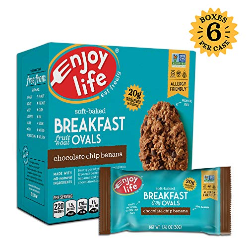 Enjoy Life Gluten Free Nut Free & Vegan Breakfast Cookies, Chocolate Chip Banana, 6 Count ()