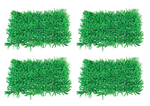 Beistle S57161AZ2, 4 Piece Tissue Grass Mats, 15