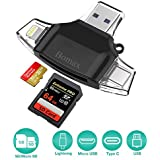 Card Reader,BOMAX SD Micro Card Reader Portable SD Card Reader Tf Card Reader & USB C Micro SD Card Adapter for Computer iPhone iPad GALAXY S8 Android Mac,Micro USB 3.0 Connector
