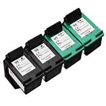 Sophia Global Remanufactured Ink Cartridge Replacement for HP 98/95 (2-Black, 2-Color)
