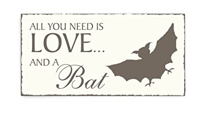 Placa decorativa, « All You Need is Love And A Bat ...
