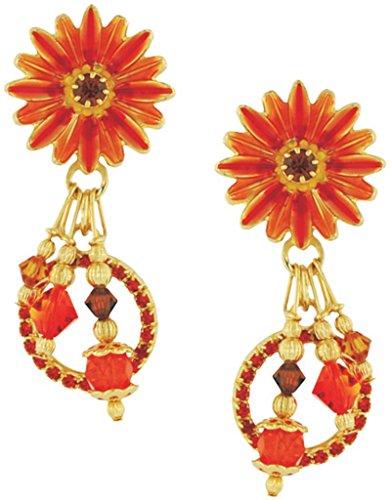 Daisy Clip Earrings (Lunch at The Ritz 2GO USA Gerber Daisy Earrings)