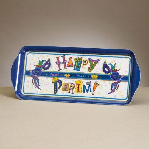 RITE LITE Happy Purim Rectangular Serving Tray - 1 Ea (Shalach Manot Baskets)