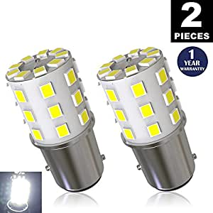 LUYED 2 x 800 Lumens Super Bright 1157 2835 33-EX Chipsets 1157 2057 2357 7528 LED Bulbs Used For Turn Signal Lights,Tail Lights,Xenon White