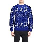 FANOUD Men's Blouse Christmas Reindeer Long Sleeve Print Top Autumn Winter Christmas Printing Top
