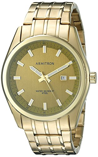 Armitron Men's 20/5089GDGP Date Function Dial Gold-Tone Bracelet Watch