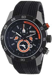 Hugo Boss 1512662 - Reloj analógico de cuarzo para hombre con correa de silicona, color negro