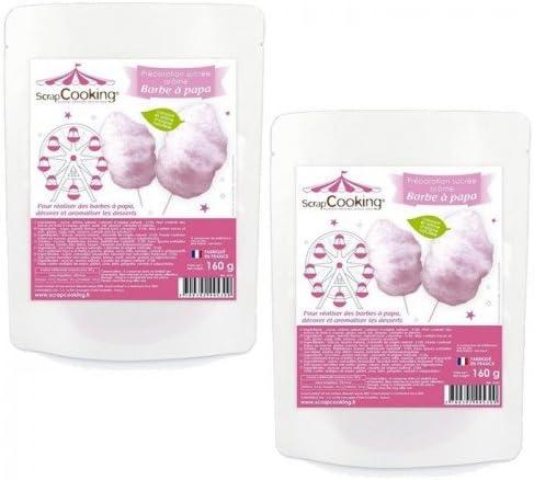Preparación rosa para Algodón de azúcar 320 g: Amazon.es: Hogar