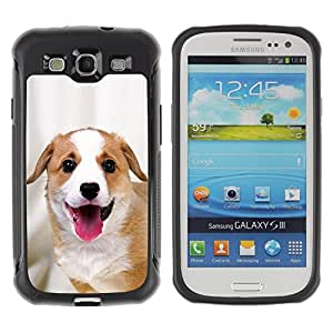 Suave TPU Caso Carcasa de Caucho Funda para Samsung Galaxy S3 I9300 / Harrier English Foxhound Coonhound / STRONG