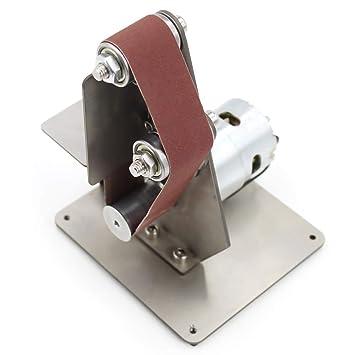 HYLH Mini lijadora eléctrica de Bricolaje Afiladora de ángulo Fijo ...