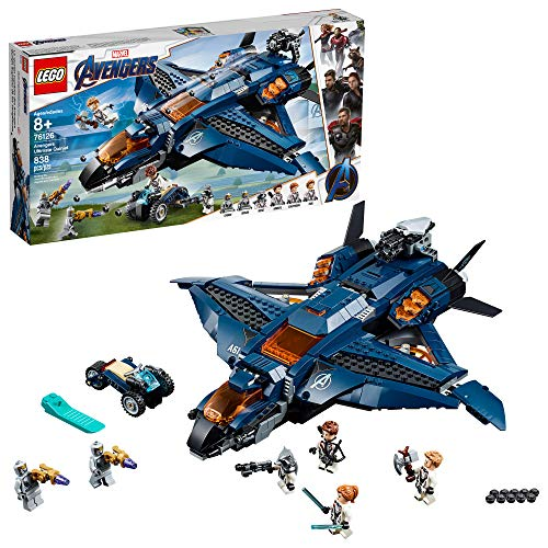 LEGO Marvel Avengers: Avengers Ultimate Quinjet 76126 Building Kit (838 -
