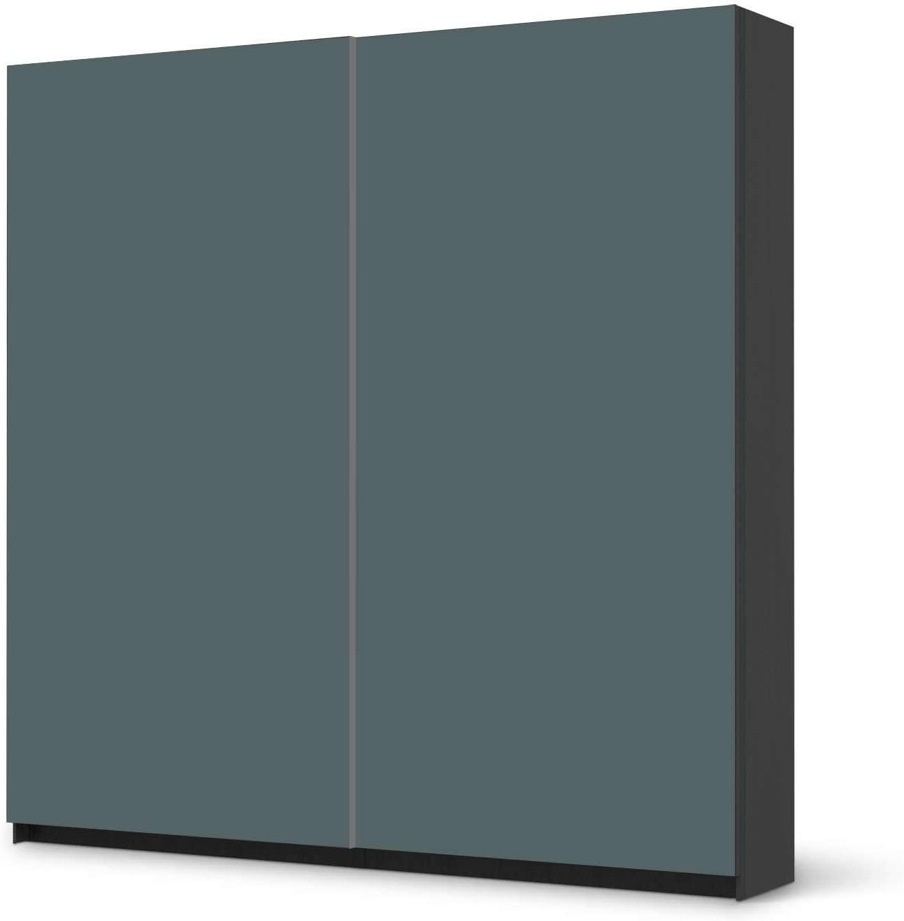 Los muebles-Sticker IKEA PAX armario de 201 cm de altura - puerta corredera/con diseño de pegatinas de colour azul y gris 2/y protector autoadhesivo: Amazon.es: Hogar