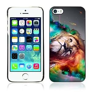 DesignHeaven Slim Design Case Apple iPhone 5 / 5S ( Cool Colour Art Lion Space )