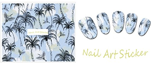 Nail Art Water Transfer Stickers Palm tree - DLS346 Nail Sticker Tattoo - FashionDancing - Palm Tree Nail Art