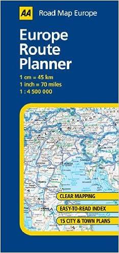 Europe Route Planner (AA Road Map Europe Series): Amazon.de: AA ...