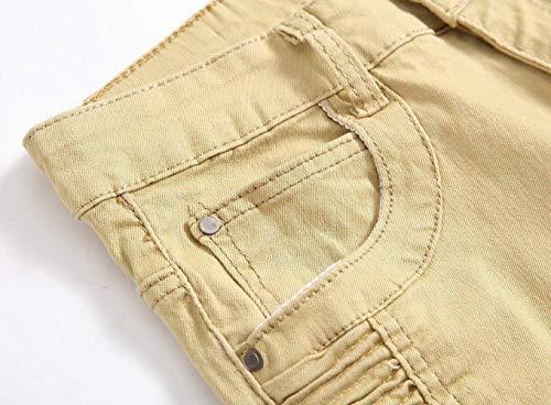 De403khaki Regular Pantaloni Jeans Stonewashed Usati Fit Da Skinny Uomo Denim rTqwzTI