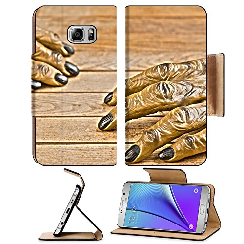[MSD Premium Samsung Galaxy Note 5 Flip Pu Leather Wallet Case Note5 IMAGE 22991155 Werewolf hands on wooden background R] (Quick And Creative Halloween Costumes)