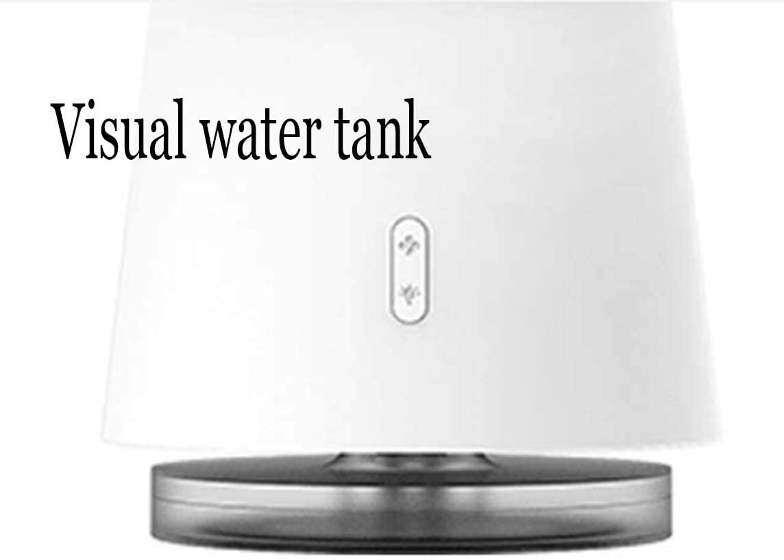 White Mini Fan Portable Desktop Fan Desktop Fan 3 Speed Wind Night Light Leafless Fan USB Mini Energy-Saving Fan 129145227mm