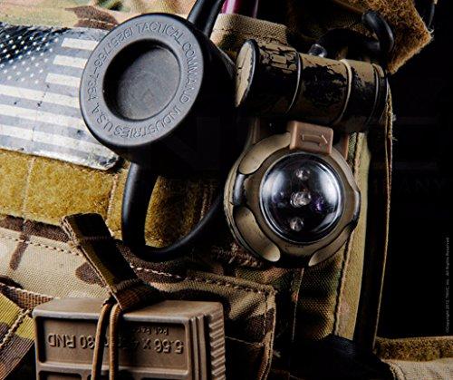 Enhelmet Tactical Signal Light/Outdoor Survival Tactical Airsoft VIP Safety Signal Light/SOS Signal Flashlight IR Strobe Light 2X Infrared, 3X Greenlight (DE) by Enhelmet (Image #4)