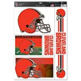 """NFL Cleveland Browns Ultra Decal Sheet, 11""""x17"""", Team Color"""
