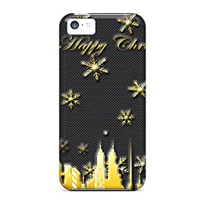 TIL11974Kyiz Case Cover Happy Christmas Iphone 5c Protective Case