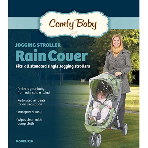 (Comfy Baby! Universal Single Jogging Stroller Waterproof Rain Cover/Wind Shield)