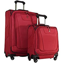 "Travelpro Maxlite 4 2-Piece Luggage Set: 25"" Expandable Spinner & Under Seat Bag Carry On (Merlot)"