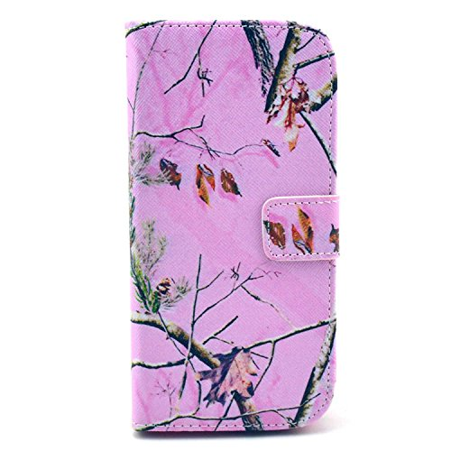 M8 Case,HTC One M8 Case,Nancy's Shop Pattern Premium Pu Leather Wallet [Stand Feature] Type Magnet Design Flip Protective Credit Card Holder Pouch Skin Case Cover for HTC One M8(built-in Credit Card/id Card Slot)- (Pink Tree)