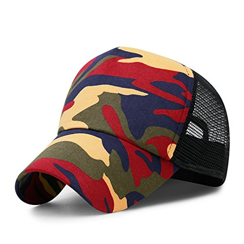4 Liufeilong Hats, Camouflage Hats Spring Summer Influx Men's Baseball Caps Outdoor Caps Sun Hats Visors Breathable Net Caps Youth