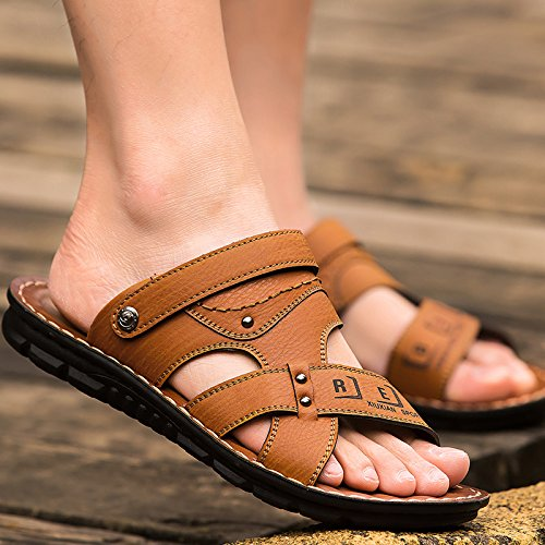 Xing Lin Sandalias De Verano Sandalias De Playa Marea Del Hombre Zapatos Para Hombres Verano Zapatillas Sandalias Hombre De Nueva Tendencia Sandalias De Hombres Transpirable Zapatos De Hombre yellow