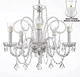 Cheap Crystal Chandelier Lighting Chandeliers W/ Candle Votives H25″ x W24″- For Indoor / Outdoor Use! Great for Outdoor Events, Hang from Trees / Gazebo / Pergola / Porch / Patio / Tent !