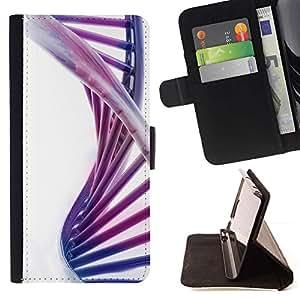 Momo Phone Case / Flip Funda de Cuero Case Cover - Estructura del ADN Espiral púrpura colorida escalera - Sony Xperia Z5 5.2 Inch (Not for Z5 Premium 5.5 Inch)