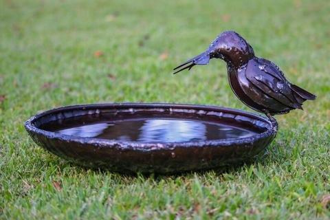 RSPB Vogeltränke aus Metall mit einem Durchmesser von 30 30 30 cm , handgefertigt, aus der Tilnar-Fair-Trade-Reihe fbbd0f