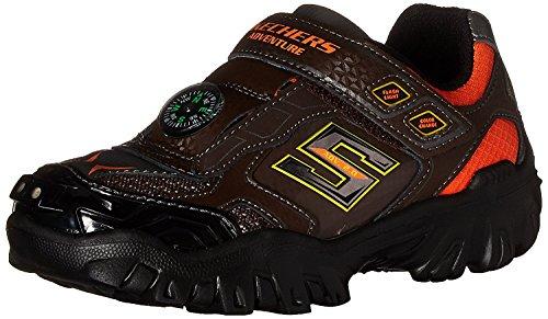 Skechers Kids Boys' Damager Iii-Adventure Sneaker, Chocolate/Orange, 12 M US Little (Compass Shoes)