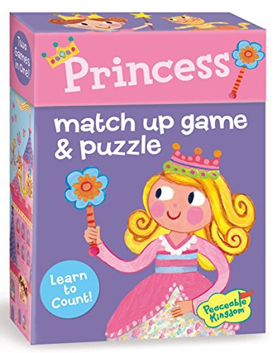 Peaceable Kingdom Press Princess 2-in-1 Match Up Memory Game & Floor Puzzle (24 Piece)