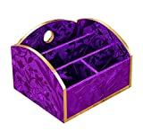 DRAGON SONIC Beautiful Desk Storage Box/Handmade Storage Chest, Purple Leaves