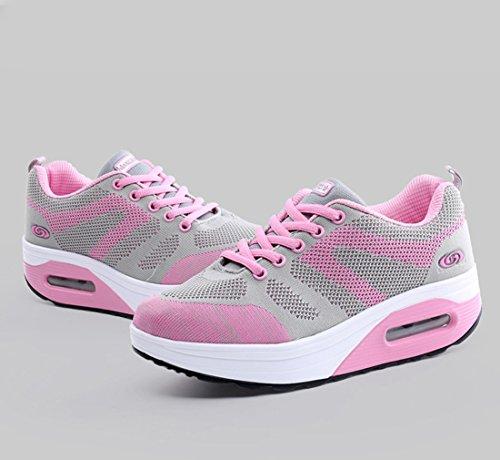 JRenok Grau JRenok Zapatillas Mujer Mujer Pink Zapatillas fwE1qXn1x