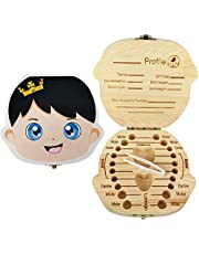 PAMBO Tooth Fairy Box Keepsake for Boys,Personalized Baby Party And Shower Gift
