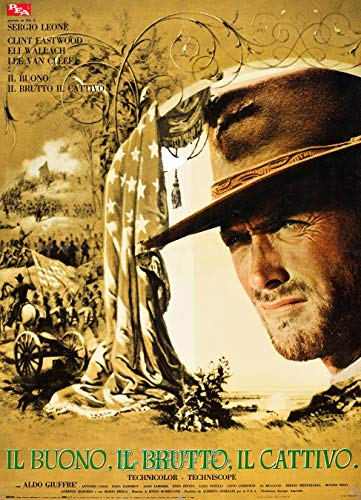 - XXL Poster 26 x 36 Rare Find Good Bad and The Ugly Clint Eastwood Italian Poster