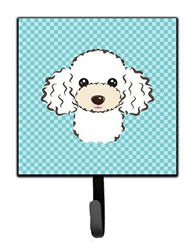 (Caroline's Treasures BB1195SH4 Checkerboard Blue White Poodle Leash or Key Holder, Small, Multicolor)