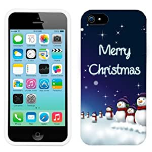 2015 customized Apple iPhone 5C Merry Christmas Snowman Phone Case Cover