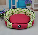 NEO Home Pet Bed Dog Puppy Cat Soft Cotton Fleece&Canvas Warm Nest House,Filled with High Elastic PP cotton and 100% Machine Washable.