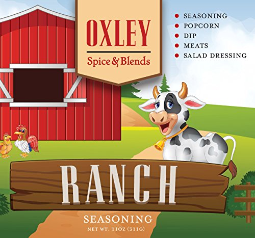 Ranch Seasoning 11 Ounce, Dip, Salad Dressing for Vegetables, Popcorn, Chicken and Pork - Ranch 11