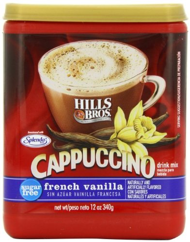 Hills Bros. Sugar Free French Vanilla Cappuccino Drink Mix (Pack of 2) (Hills Brothers Coffee K Cups)